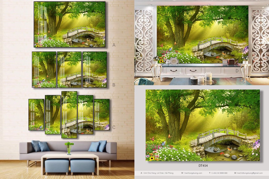 Tranh treo tường phủ bóng tráng gương