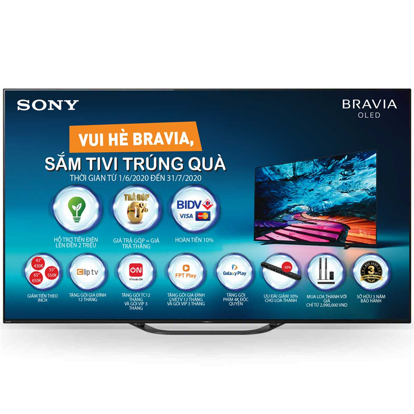 Tivi Oled Sony KD-55A8G 55 Inch 4K HDR Android