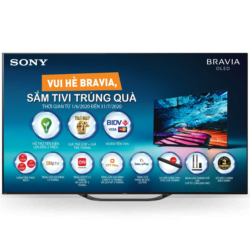 Tivi Oled Sony KD-65A8G 65 Inch 4K HDR Android