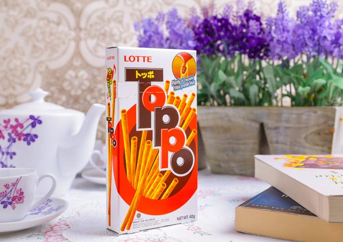Bánh que sô cô la Toppo hộp 40g