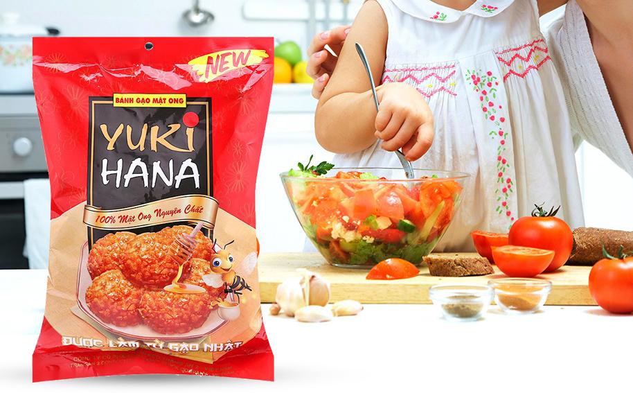 Bánh gạo vị mật ong Yuki Hana Tràng An gói 100g