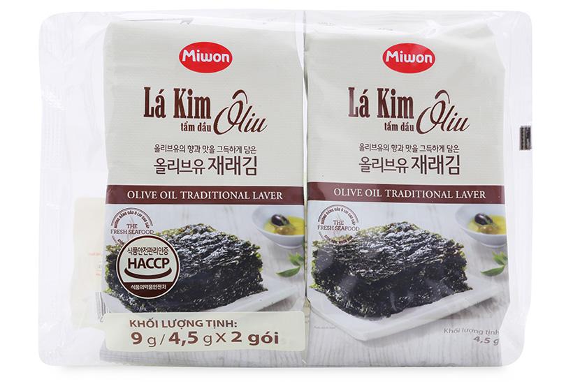 Lốc 2 gói lá kim tẩm dầu Oliu Miwon 4.5g