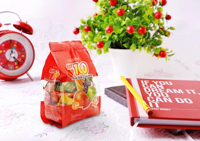 Kẹo dẻo tổng hợp Lot 100 gói 320g