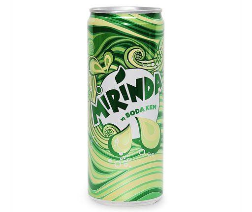 Nước giải khát có gas Mirinda vị soda kem lon 330ml