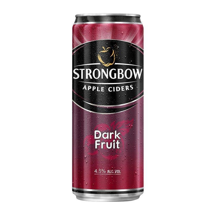 Nước táo lên men Strongbow Apple Ciders Dark Fruit lon 330ml.