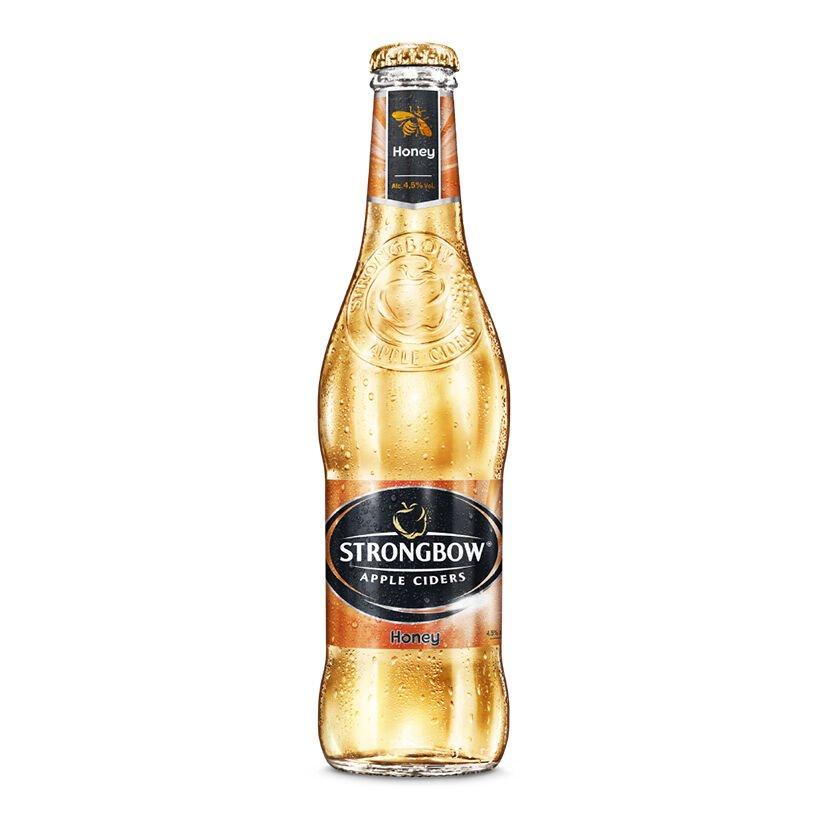 Nước táo lên men Strongbow Apple Ciders Honey chai 330ml (Vị mật ong)