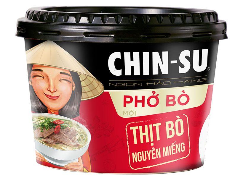 Phở Bò CHIN-SU (có thịt) hộp 132gr