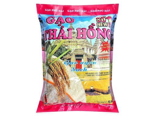 Gạo Thái hồng số 1 Phú Hải túi 5kg