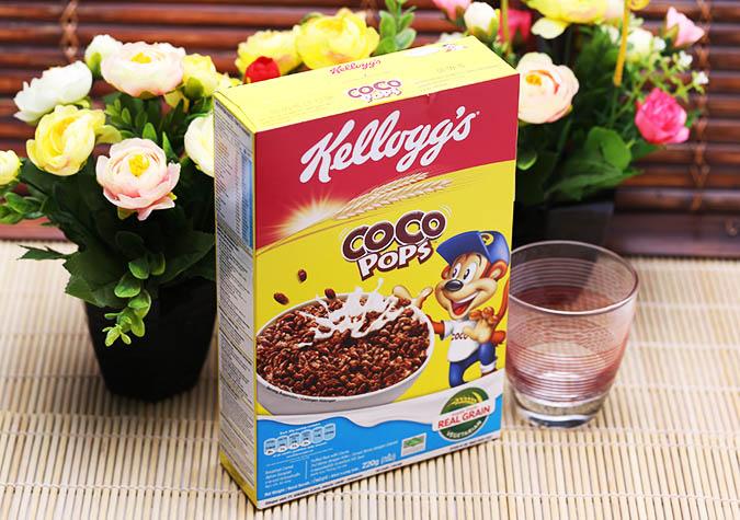 Ngũ cốc dinh dưỡng Coco Pops Kellogg's hộp 220g
