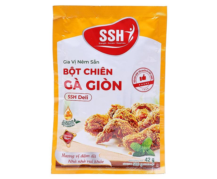 Gia vị nêm sẵn bột chiên gà giòn SSH Deli gói 42g