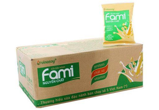 Sữa đậu nành Fami nguyên chất Vinasoy gói 200ml