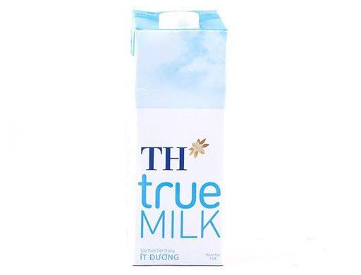 Sữa tươi tiệt trùng TH True Milk ít đường hộp 1L