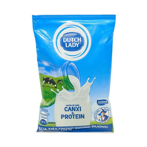 Sữa tiệt trùng Dutch Lady không đường túi 220ml