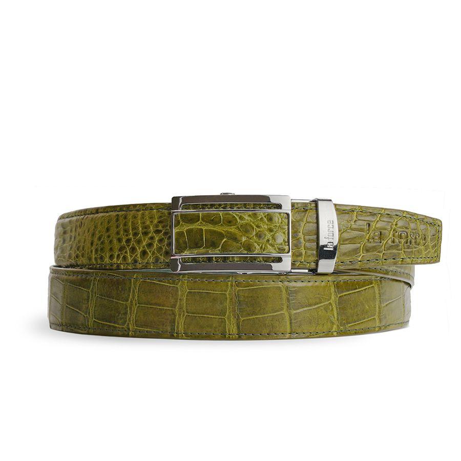 Dây thắt lưng cá sấu nam DLA1200-02B-B-XC