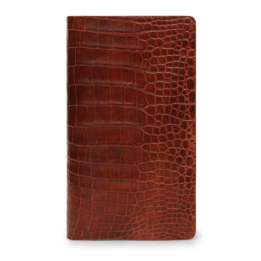 Ví cầm tay nam cá sấu nâu đỏ VCTLACS3600-T-ND