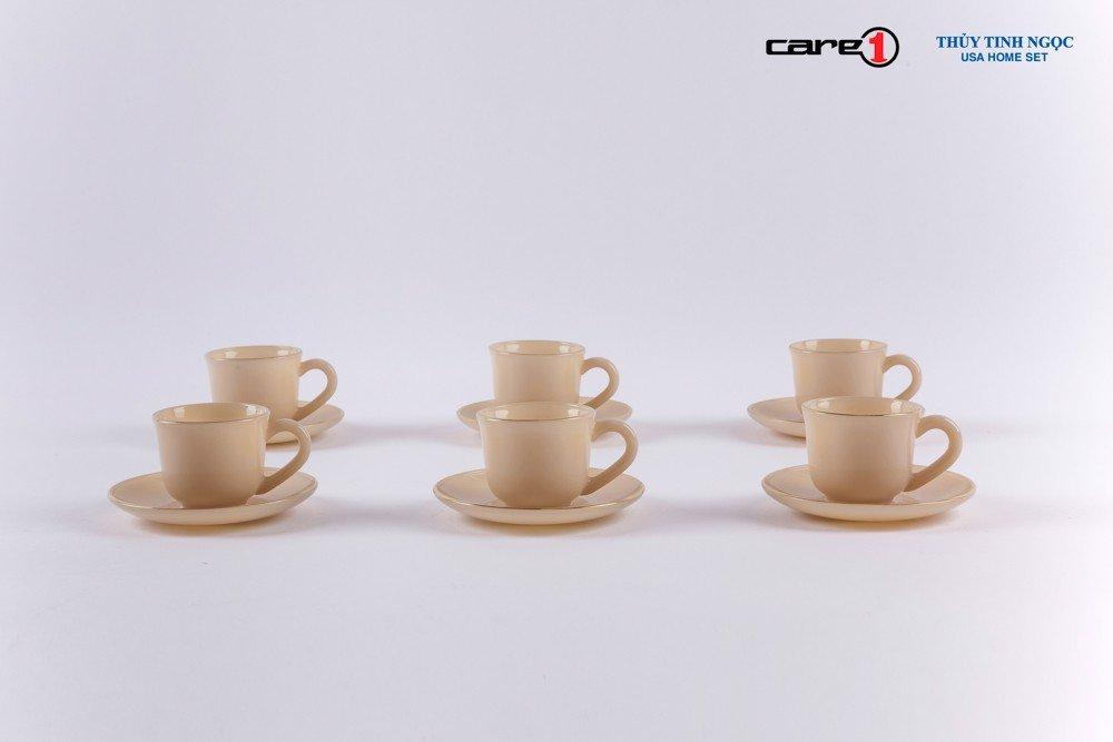 Bộ tách trà 12 chi tiết màu nâu Topaz