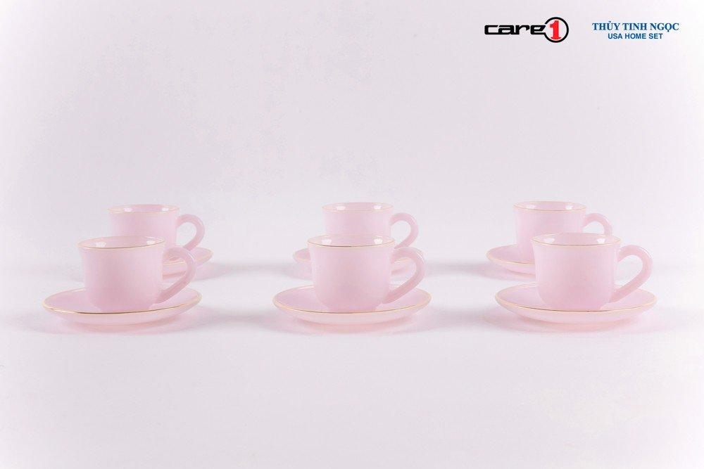 Bộ tách trà 12 chi tiết màu hồng ngọc Ruby