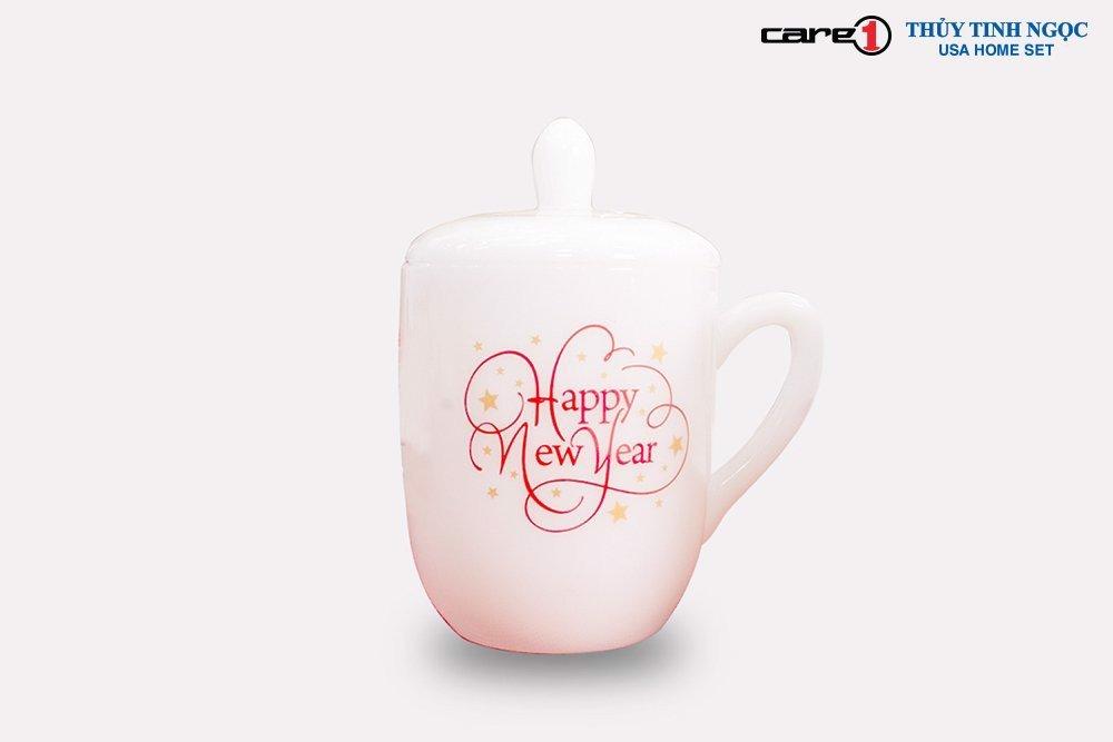 Ca trà/cốc Thủy Tinh Ngọc Happy New Year