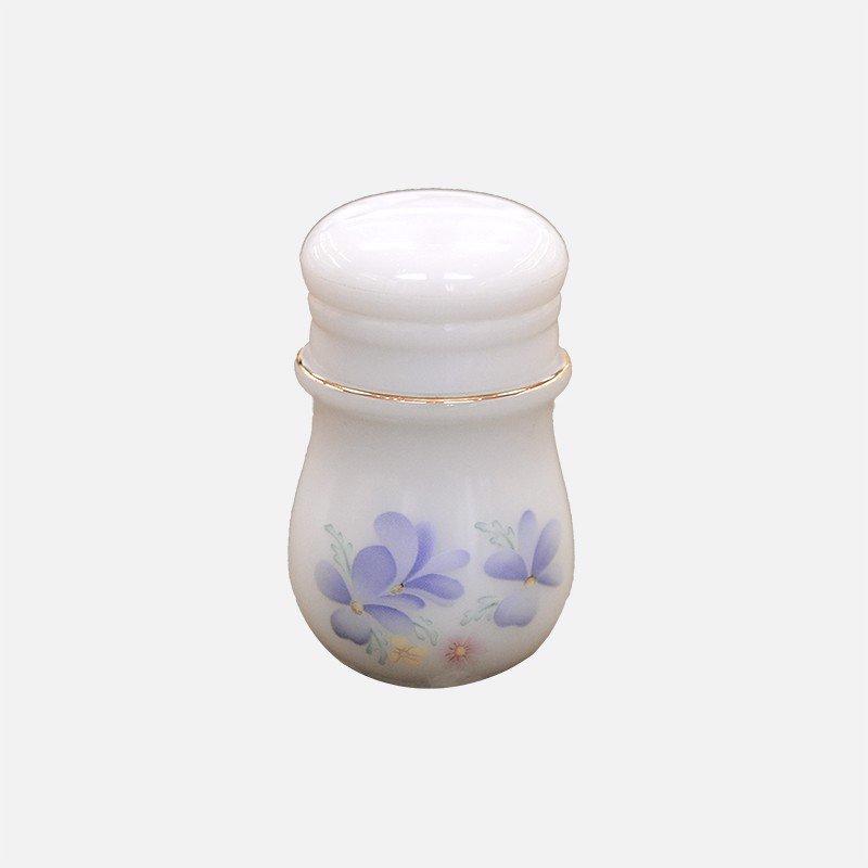 Lọ đựng Tăm họa tiết Hoa màu xanh