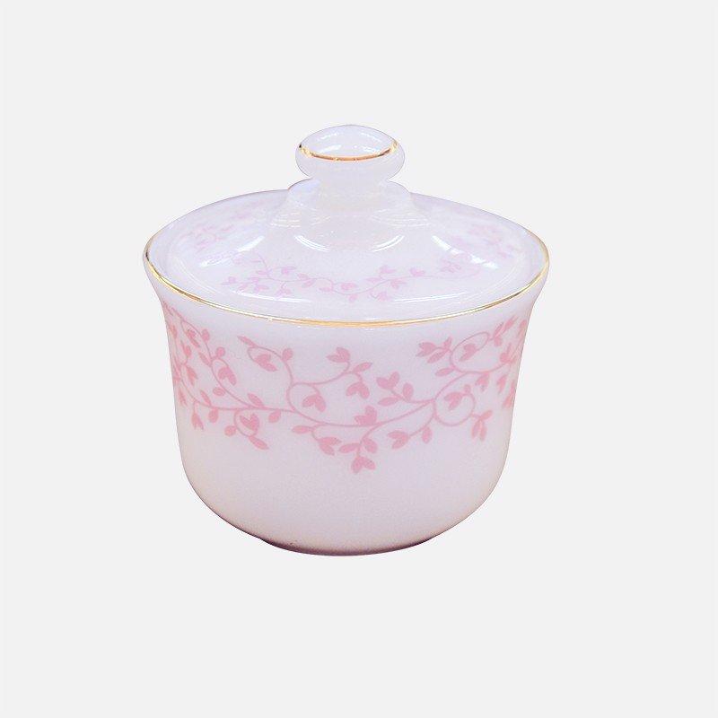 Hũ đựng gia vị Thủy Tinh Ngọc Opal hoa dây hồng